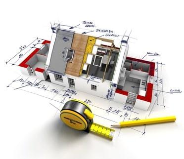 Måltegning 3D hus