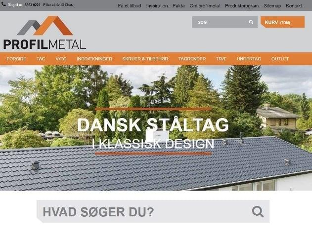 Profilmetal A/S har fået ny hjemmeside